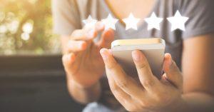 patient receiving patient survey via text message