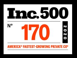 Inc500 Fast Growing Company badge